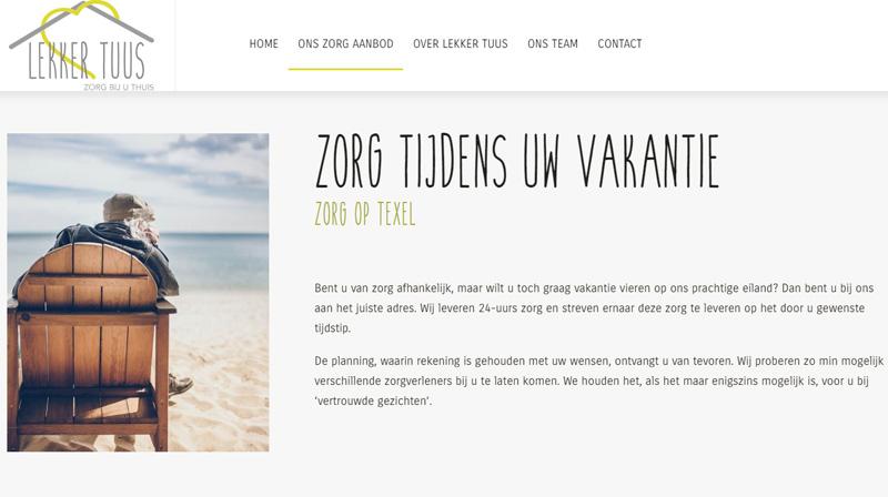 Lekker Tuus, Zorg op Texel