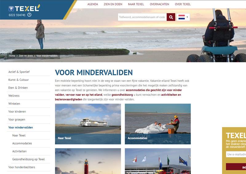 Toegankelijk Texel, info voor Minder Validen